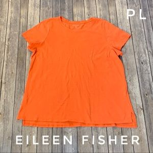 Eileen Fisher organic cotton short sleeve basic T